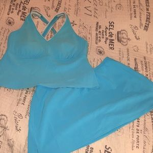 Lands' End Tankini Top with matching Swim Skirt